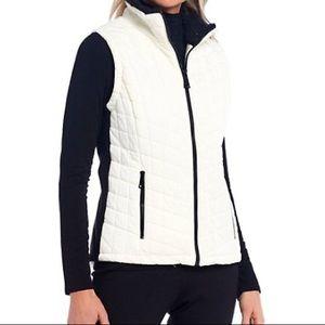 Calvin Klein Sz Xs White Quilted Vest